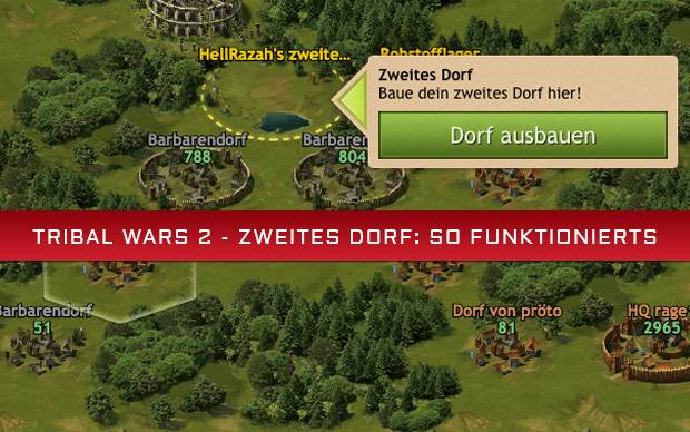 Tribal Wars 2 - Zweites Dorf: So funktionierts