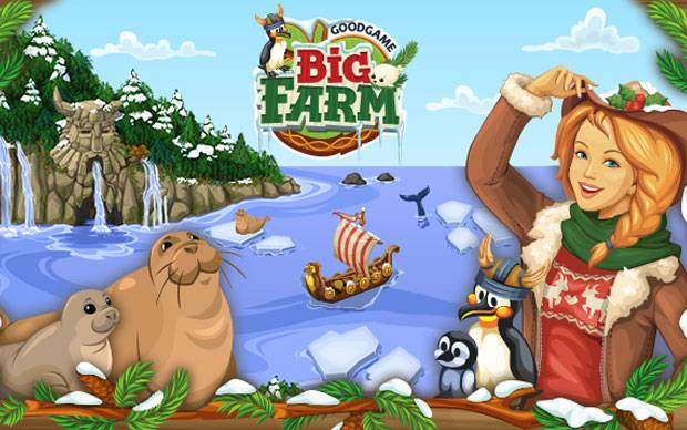 Big Farm - Winter Farm Event: Schnee im Sommer