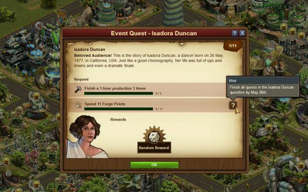 Forge of Empires - Isadora Duncan Event