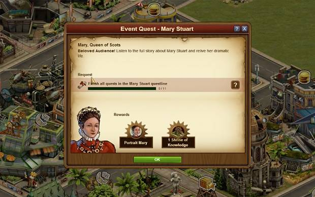 Forge of Empires - Historisches Event: Mary Stuart