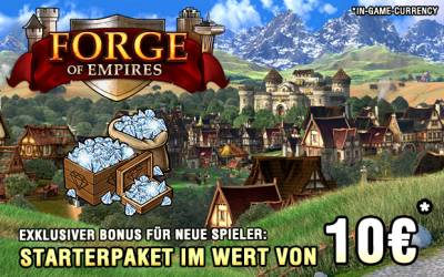 Forge of Empires - Starterpaket mit 750 Ingame Diamanten