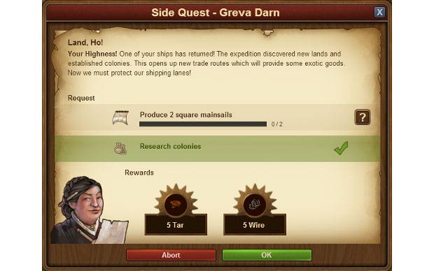 Forge of Empires Neue Ansicht Quests