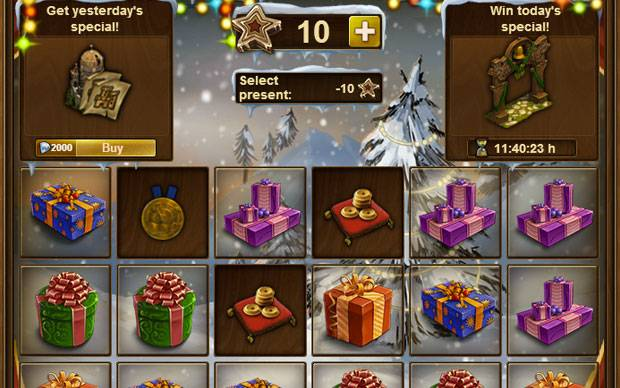 Forge of Empires Winter Event 2015 Geschenke Fenster